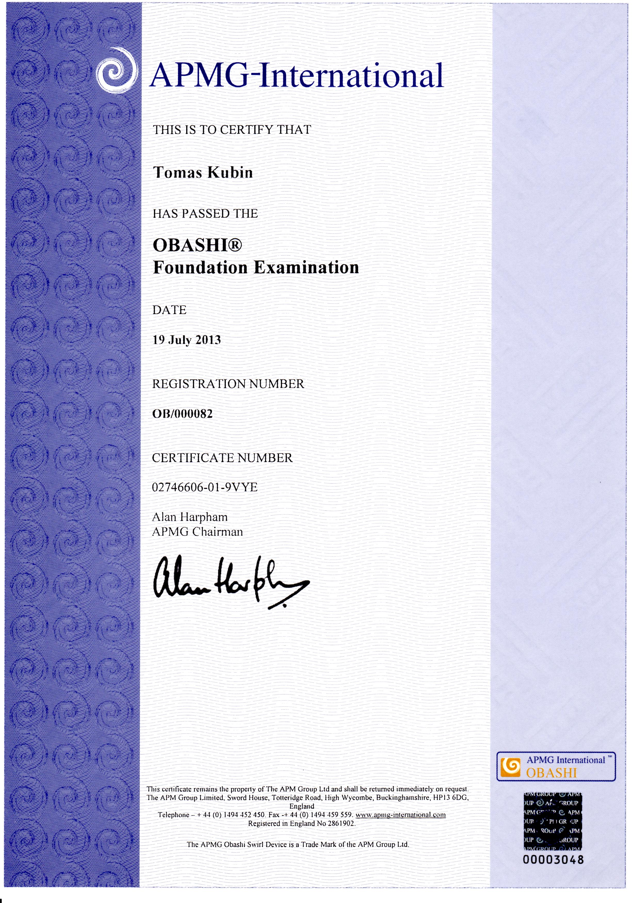 Tomas kubin personal website of tomas kubin itil service management apmg itil014970 xflitez Gallery
